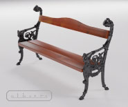 Park and garden bench with cast iron - ANTWERPEN 1001