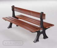 Doubleside park and garden bench with cast iron - FRANKFURTER 10101