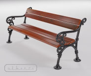 Park or garden bench with cast iron - WIEN model 101a