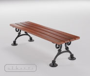 Park and garden bench with cast iron - WIEN model 105