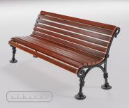 Park and garden bench with cast iron - WIEN model 110