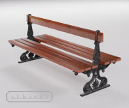 Doubleside park and garden bench with cast iron - FRANKFURTER 11301