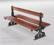 Ławki podwójne parkowe, uliczne, żeliwne - FRANKFURTER model 11301