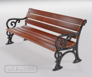 Park and garden bench with cast iron - WIEN model 120