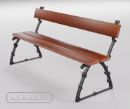 Park and garden bench with cast iron - ASTE 1401a