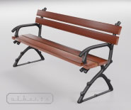 Park and garden bench with cast iron - ASTE 1401b