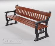 Park and garden bench with cast iron - BERLIN 1701