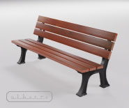 Park and garden bench with cast iron - FRANKFURT 1801