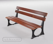 Park and garden bench with cast iron - LISSA 1803