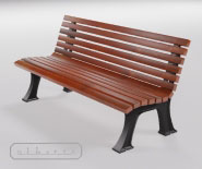 Park and garden bench with cast iron - FRANKFURT 1810
