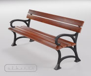 Park and garden bench with cast iron - SEDAN 2501