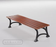 Park and garden bench with cast iron - SEDAN 2505