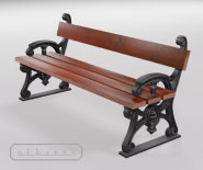 Park and garden bench with cast iron - MUNCHEN 3101
