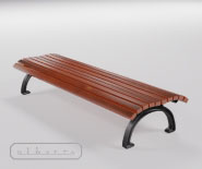 Park and garden bench with cast iron - DUSSELDORF 3205