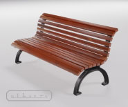 Park and garden bench with cast iron - DUSSELDORF 32100