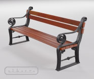 Park and garden bench with cast iron - KOPENHAGEN 3301