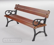 Park and garden bench with cast iron - FRUCHLING 501
