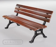 Park and garden bench with cast iron - BUGA 601