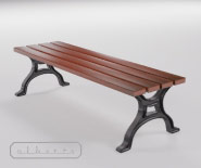 Park and garden bench with cast iron - BUGA 604