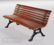 Park and garden bench with cast iron - BUGA 610