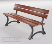 Park and garden bench with cast iron - DUBLIN 701