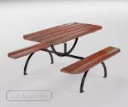 Двойная cкамейкa со столиком europa - EUROPA 2000 - 9001