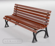 Park and garden bench with cast iron - WROCLAW 950