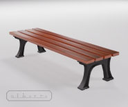 Park and garden bench with cast iron - FRANKFURT 1805