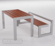 NEW - Park and garden bench - Demerara - 8001.01/Table - 8001.02