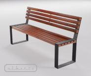NEW - Park and garden bench - Europa 2000-8001