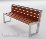NEW - Park and garden bench - Demerara - 8002.01