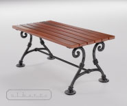 Park and garden table with cast iron - WIEN модель 102a