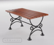 Park and garden table with cast iron - WIEN модель 102b