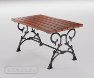 Stół na podstawie żeliwnej - FRUCHLING 502